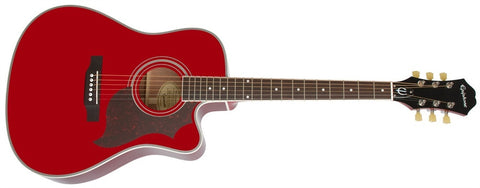 Epiphone 2014 FT-350SCE Min-Etune Acoustic/Electric Wine Red EE35SCERWRNH - L.A. Music - Canada's Favourite Music Store!