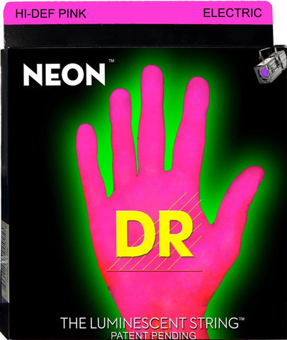 DR USA HI-DEF PINK NEON ELECTRIC GUITAR STRINGS 9-42 - L.A. Music - Canada's Favourite Music Store!