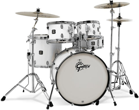 Gretsch Drums Energy Series 5 Piece Standard Drum Kit With Hardware White GE3825W