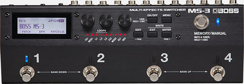 Boss MS-3 Multi Effects Switcher - L.A. Music - Canada's Favourite Music Store!