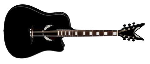 Dean V-Wing Thin Body A/E acoustic electric in Classic Black