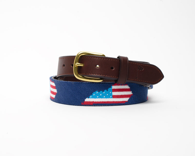 The Bluegrass State Needlepoint Belt
