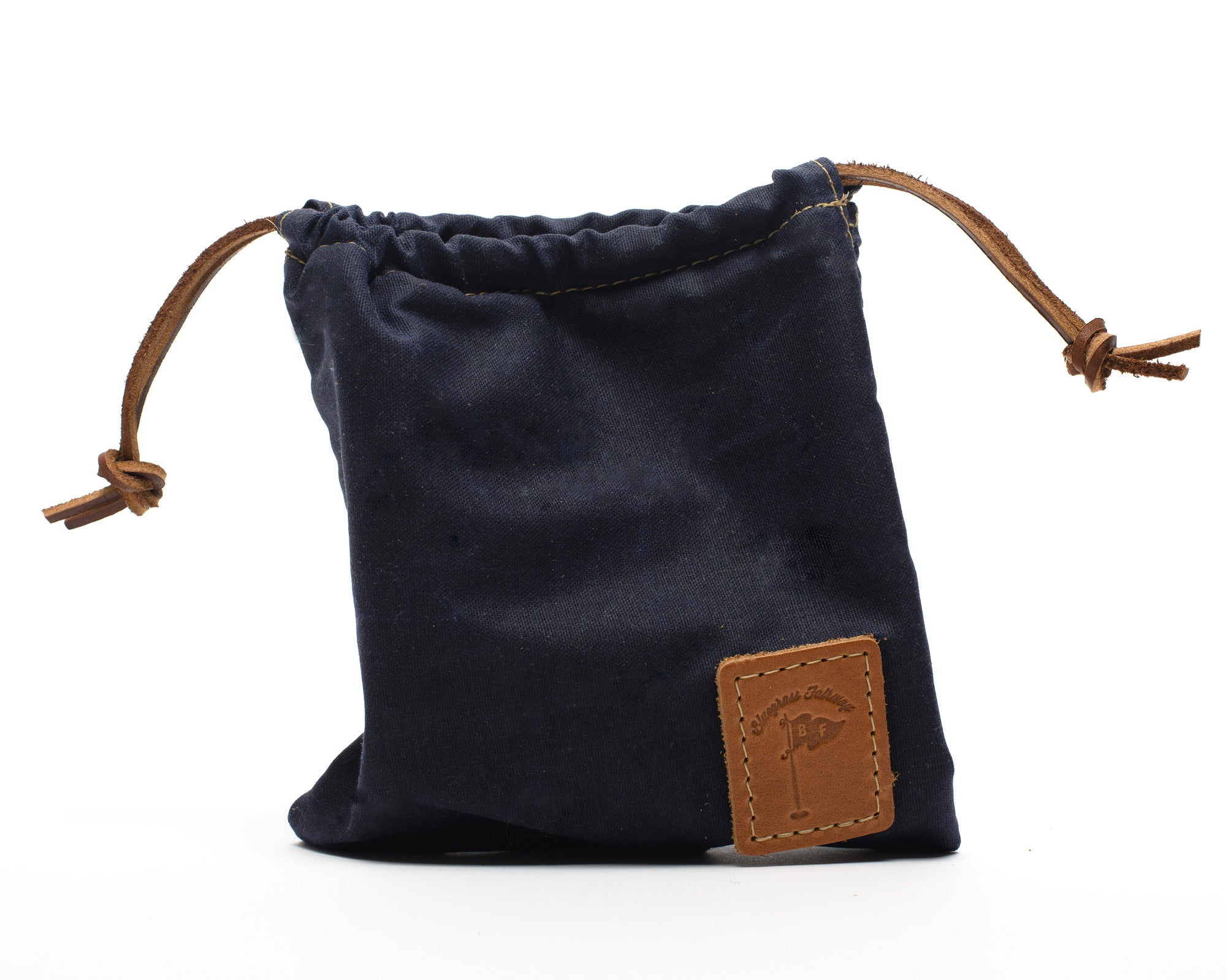 Waxed Canvas Golf Valuables Field Pouch in Navy