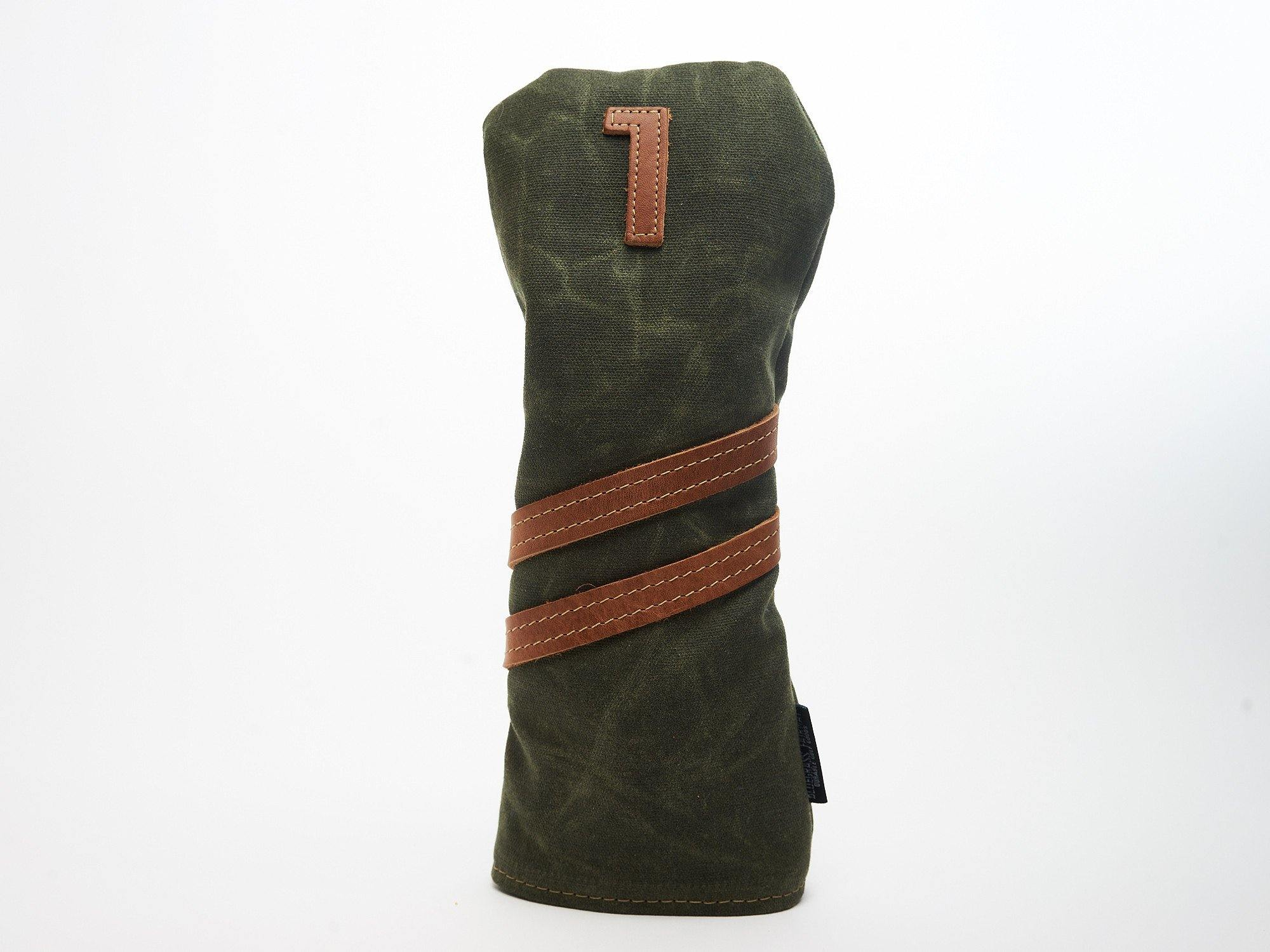 Invitational Edition Waxed Canvas golf Headcover in Green Driver