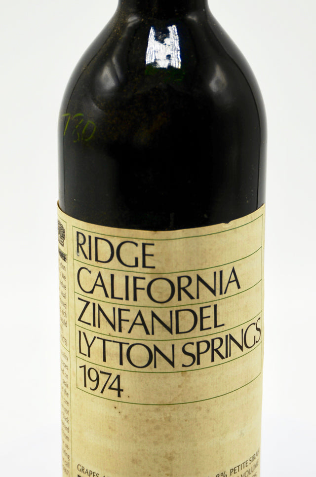 1974 Ridge Zinfandel, Lytton Springs