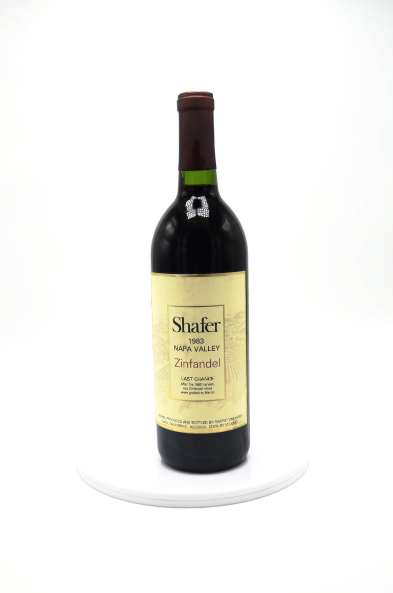 1983 Shafer Last Chance Zinfandel, Napa Valley