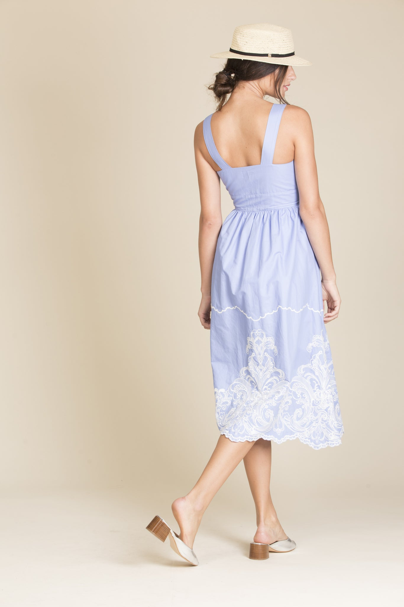 Marybelle Embroidery Midi Dress