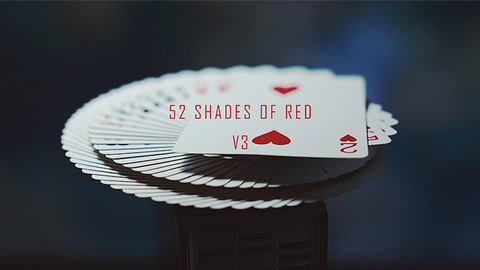 52 Shades of Red - Playing Cards and Magic Tricks - 52Kards