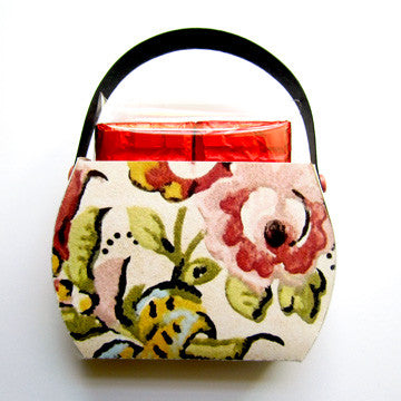 """Art Deco"" Floral Purse with Sea Salt Chocolate Bars"