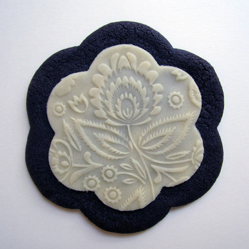 Flora Marzipan Embossed Cookie