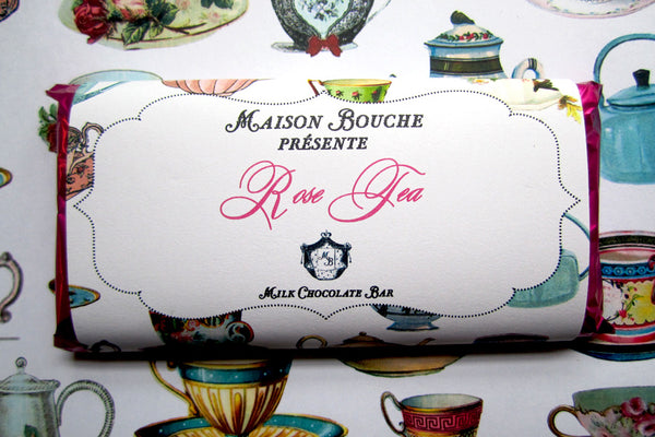 "Rose Tea ""Tea Party"" Chocolate Bar"