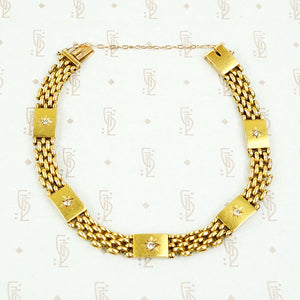 Luxurious 15ct Gold and Diamond Bracelet