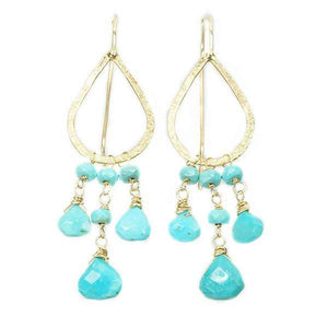 The Cairo Earrings by brunet in Turquoise