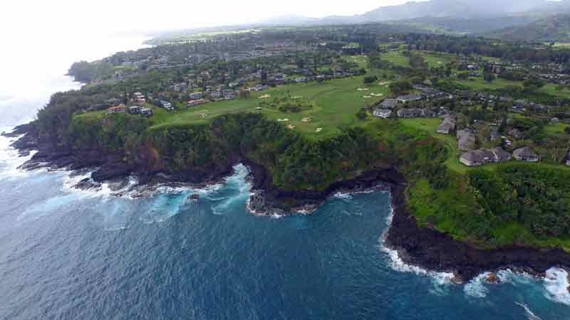 Princeville Makai Drone Video shot with  Hawaii Tee Times