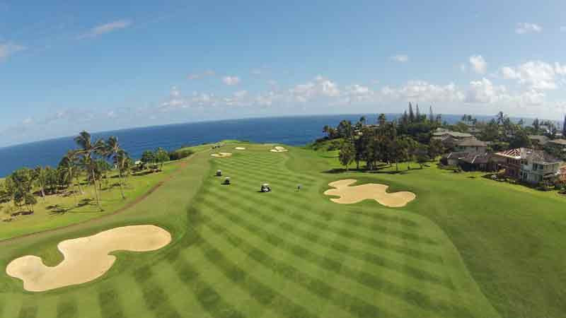 Princeville Makai aerial view of hole #6