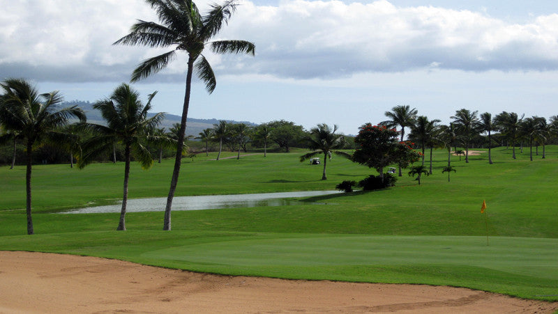 Maui Nui Golf Club 9th green