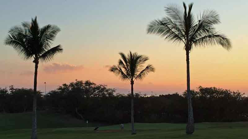 Sunset at Maui Nui Golf Course Hawaii Tee Times