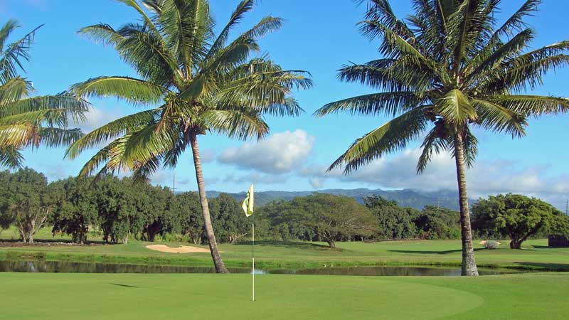 16th hole Kiahuna Golf Course Hawaii