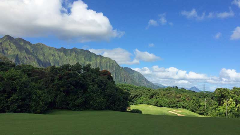 Ko'olau Golf Course first hole