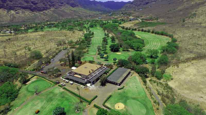 Makaha Valley Clubhouse and backnine