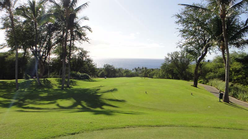 Teeing it on the first hole at Wailea Gold