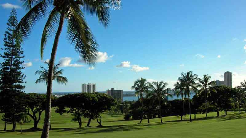 Pearl Country Club view of Pearl Harbor Hawaii TeeTimes