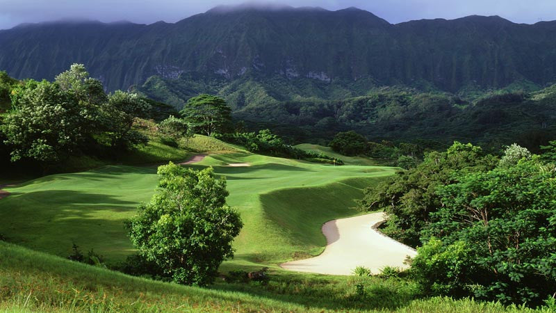 Royal Hawaiian Golf Club 17th fairway