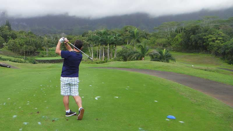 Royal Hawaiian hitting from the back tee's at the 12th