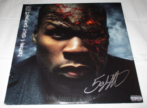 50 CENT SIGNED BEFORE I SELF DESTRUCT VINYL RECORD