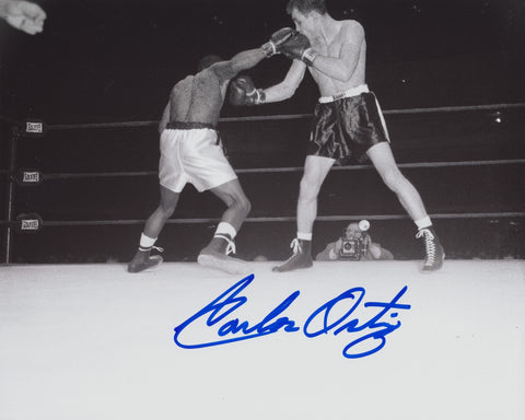 CARLOS ORTIZ SIGNED BOXING 8X10 PHOTO