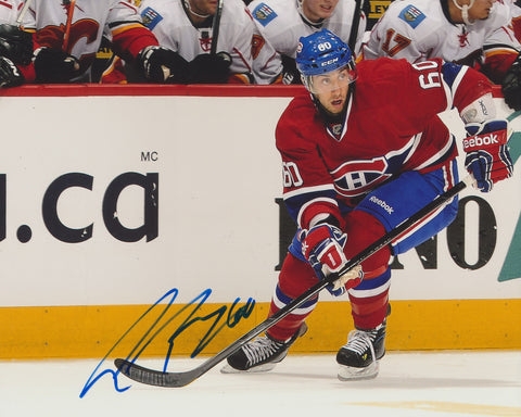 AARON PALUSHAJ SIGNED MONTREAL CANADIENS 8X10 PHOTO 2