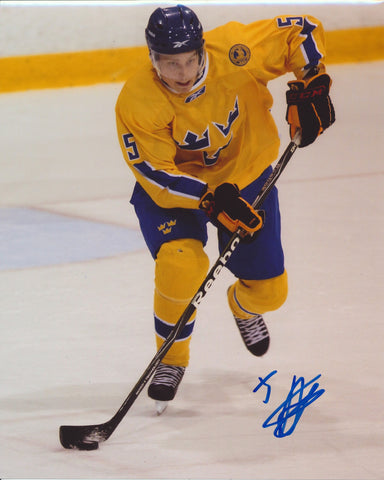 ADAM LARSSON SIGNED TEAM SWEDEN 8X10 PHOTO 2