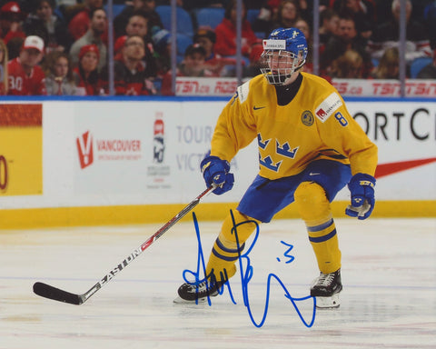 ADAM BOQVIST SIGNED TEAM SWEDEN 8X10 PHOTO