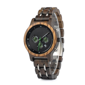 black wood watch