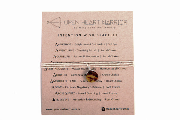 Genuine Rose Quartz Love Stone Intention Wish Bracelets / Necklace Organic Hemp