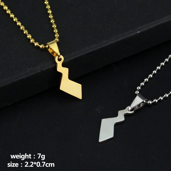 2 Style Silver Gold Pikachu Tail Pendant Necklace