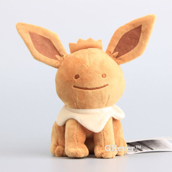 6 Styles Ditto Cosplay Eevee Family Soft Plush 16-18 CM