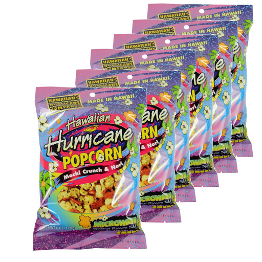 6 pk Hawaiian Hurricane Microwave Popcorn with Mochi Crunch and Nori
