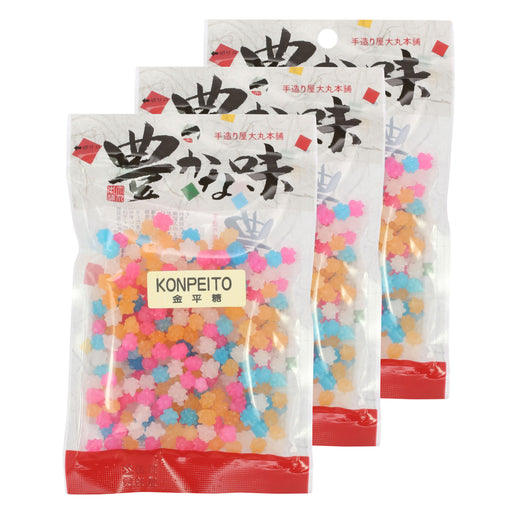 Japanese Konpeito Hard Candy - 3 pack