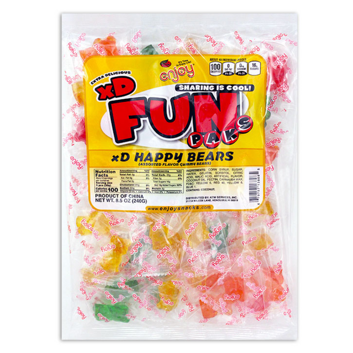 Gummy Happy Bears - Individual Fun Paks