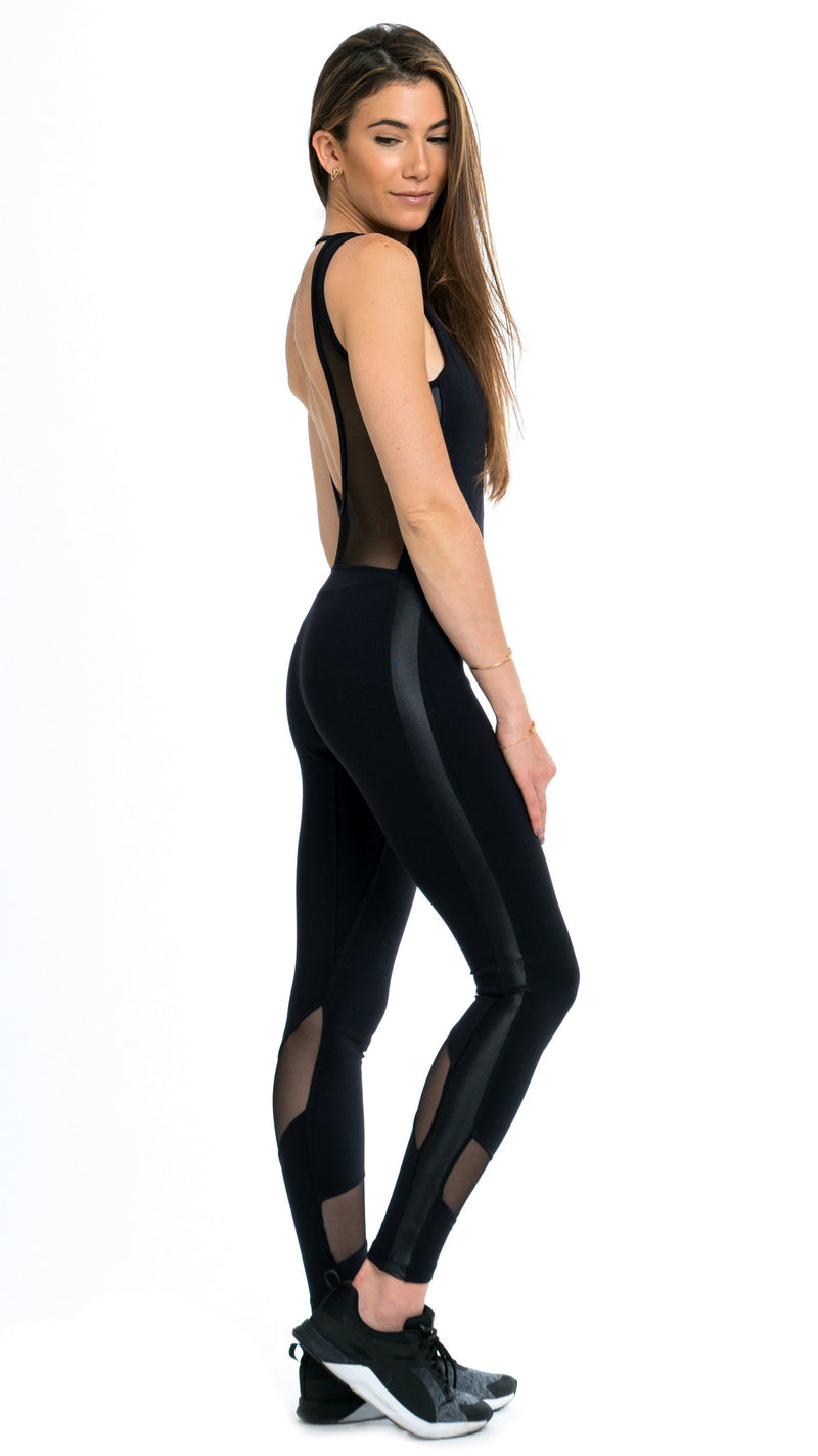 Shama Jade Classic Luxury Jumpsuit: Black - Shama Jade | Women's Luxury Yoga Jumpsuits and Activewear