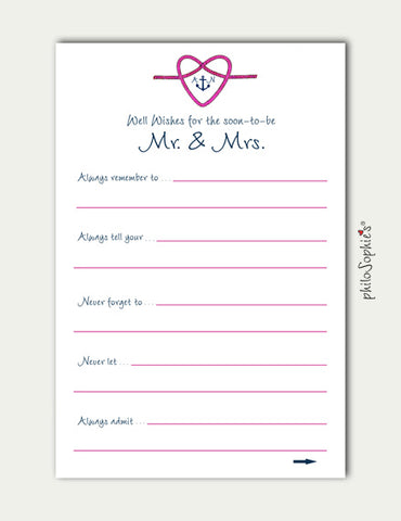Anchor Nautical Themed Personalized Advice Cards - philoSophie's®