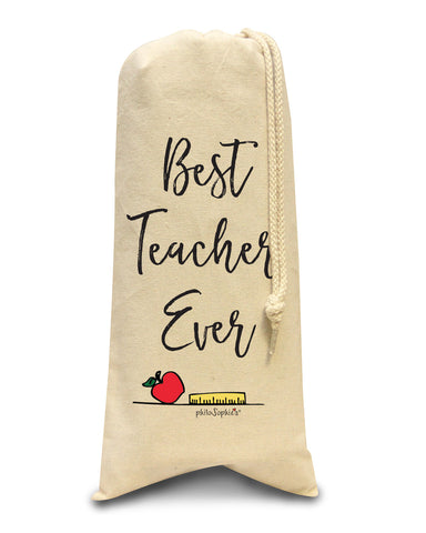 Best Teacher Ever tote/Wine & Spirits Tote - philoSophie's®