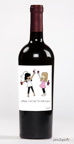 Cheers to My Girl! Bridesmaid Wine Label - philoSophie's®