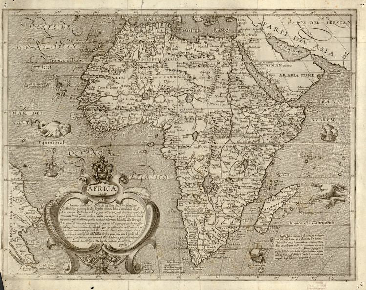 Educational Map Series: Old Africa Collection