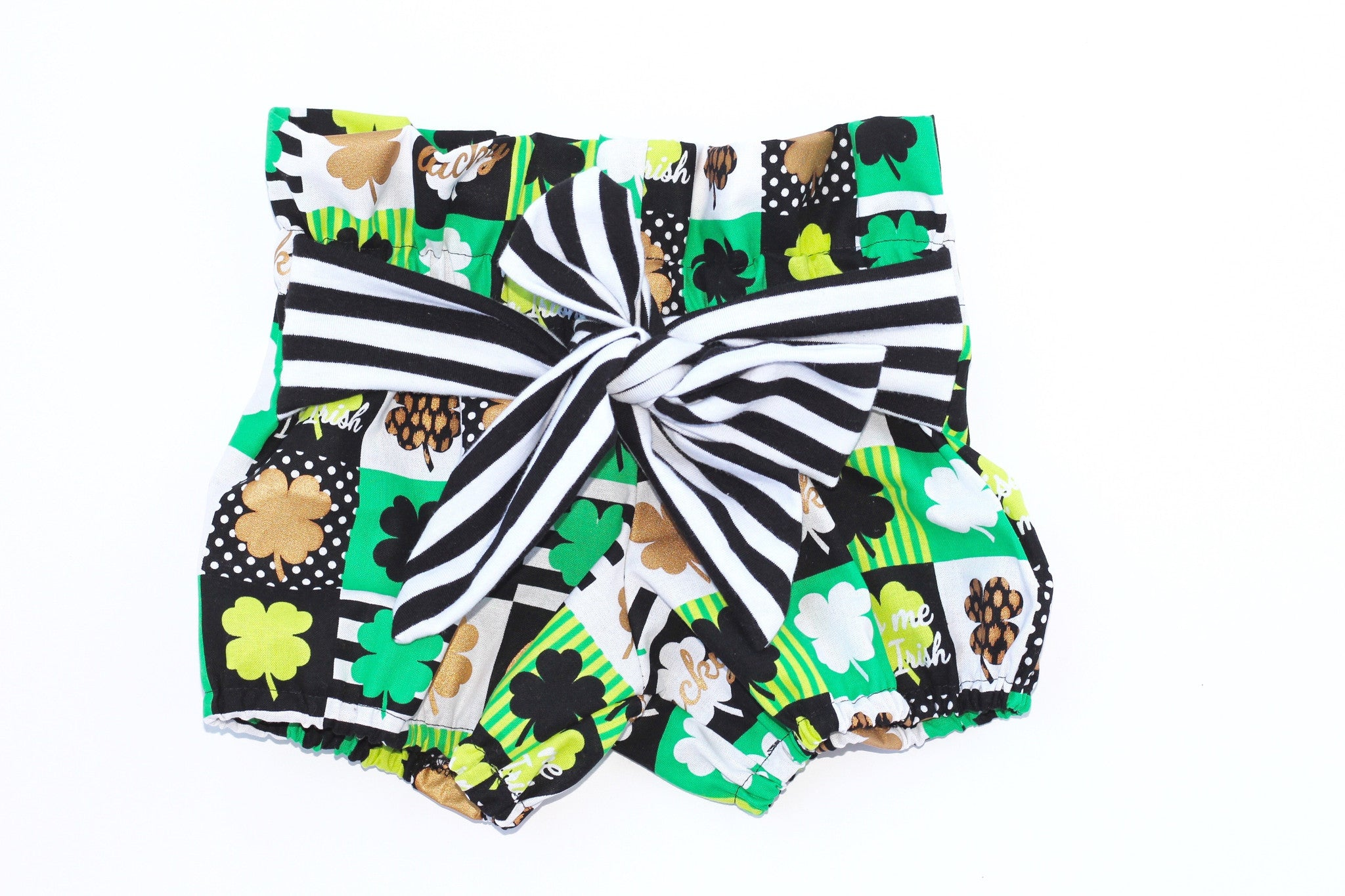 KISS ME I'M IRISH High Waisted Ruffle Shorts