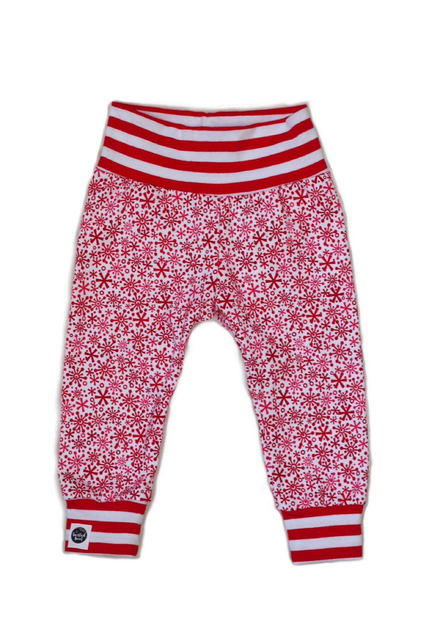 RED SNOWFLAKE & STRIPES Leggings