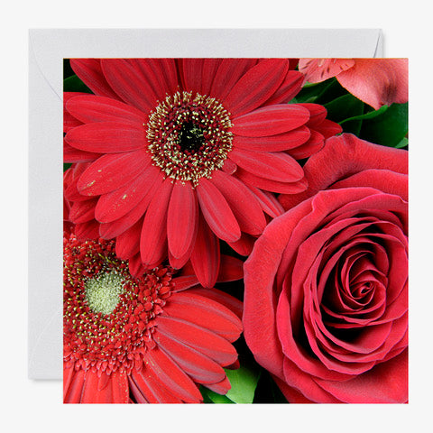 "5"" x 5"" Card- Red"