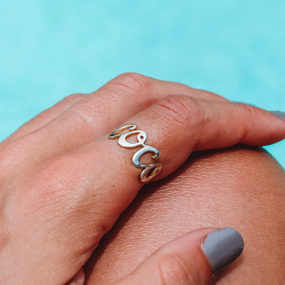 Gold Coco ring made from Recycled Sterling Silver