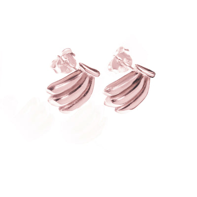 La Luna Rose Jewellery - You Drive me Bananas Earrings - Rose Gold
